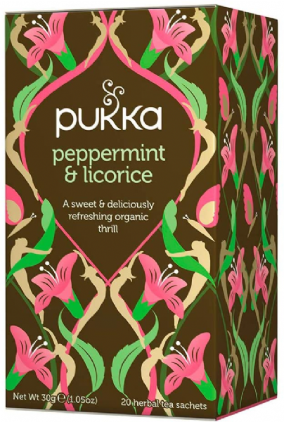 Pukka Peppermint & Licorice 20 Tea Bags